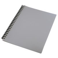 STAT Display Book A4 20 pocket PP Refillable PK10 Grey