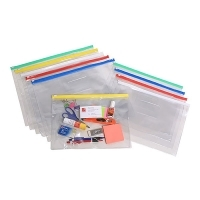 Marbig Doc Wallet 9008099 A4 Clear Case 335x245mm PK12 Assorted