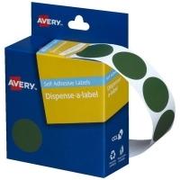 Avery Dispenser Label 24mm Green BX500