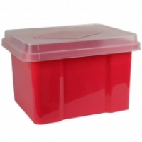 Italplast Storage Box 32 litre i307FWM Red+ClearLid