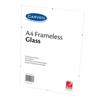 Carven Document Frames A4 Framless Glass BX6 QFWCLIPA4