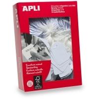 APLI String Tags White (No  396) 50x70mm BX400 900396