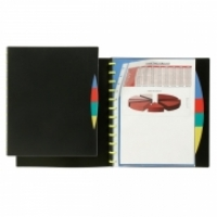 Marbig A4 KwikZip Display Book+Divider 20pocket 2020202