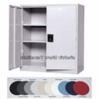 Steelco Stationery Cupboard 1015mm 2 Shelf Graphite Ripple