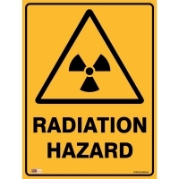 SAFETY SIGN - Radiation Hazard 450mmx600mm Metal