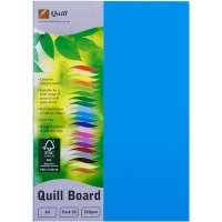 Quill Board A4 210gsm 90302 Pack 50 - Marine Blue