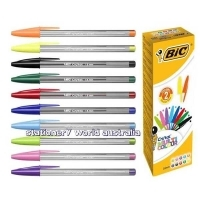 BIC Cristal Multi-Coloured Ballpoint Pens Assorted Box of 20