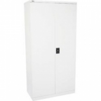 Go Steel Stationery Cupboard 1800H 3 Shelf White