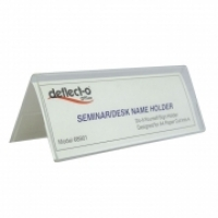 Deflecto Name Card Holder Tent Style A6 68901 150(W)x55mm(H)