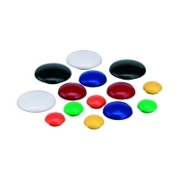 Quartet Whiteboard Buttons Magnetic 40mm Pkt10 White