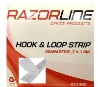Razorline Hook & Loop Strips Dispenser 20mm x 1.8Mt