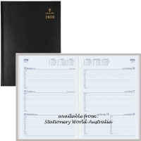 Collins 2020 Sterling Diary A5 Week Open Black 384.P99