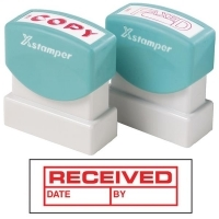 XSTAMPER STAMP - Received/Date/By (Red) 1680 (5016802)