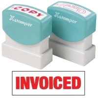 XSTAMPER STAMP - Invoiced (Red) 1532 (5015320)