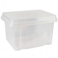 Italplast Storage Box 32 litre 307CLR Clear+ClearLid
