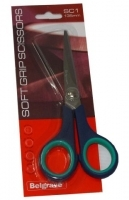 Belgrave Soft Grip Scissors SC1 Stainless Steel 135mm Blue/Green