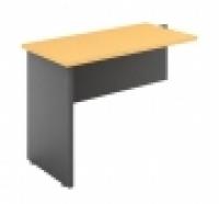 DDK Accent Desk Return 900x600mm Red Gum Top & Silver Side