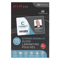 GBC Laminating Pouch 67x99mm 175mic Gloss BX100 BL175M67X99