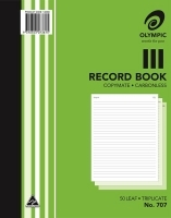 Record Book Triplicate 250x200 Carbonless Olympic 707