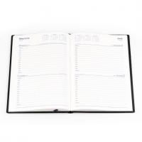 2021 Belmont Diary 287 A5 2 Days to a Page PVC Black