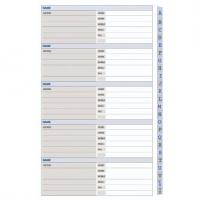 Dayplanner Refills SL4002 Telephone/Address - Slimline