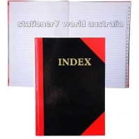Premier Notebook Red & Black Gloss Hardcover A4 A-Z 100 Leaf