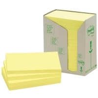 Post It Notes 655-RTY Recycled Tower Yellow 76x125mm PK16