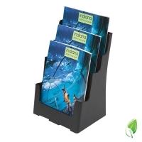Deflecto Brochure Holder A4 3Tier Black 97304