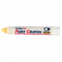 Artline Paint Crayon Marker 40 Permanent BX12 104007 Yellow