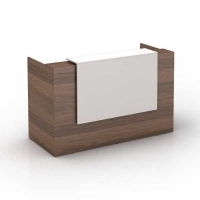 Sorrento Reception Counter Cansan/White 1800x840x1150mm