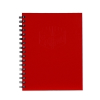 Spirax Notebook 512 Hardcover A4 200page PK5 Red