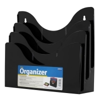 Deflecto Document Organiser 3Tier Black 390204