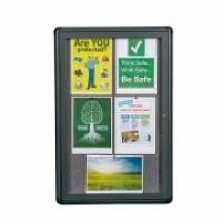 Quartet Enclosed Fabric Bulletin Board QT2363L 600x900mm