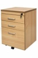 Rapid Span Mobile Pedestal 1 File 2 Std Drawer Beech