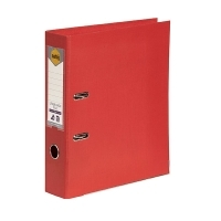 MARBIG PE LINEN LEVER Arch File A4 Red