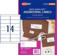 Avery Inkjet Label J8163 PK25 14/sheet