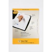 Divider A4 View Tab PVC Clear 10Tab Marbig 37820