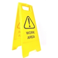 CLEANLINK SAFETY SIGN Work Area 32x31x65cm