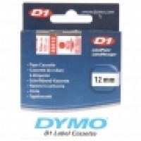 Dymo Labelling Tape D1 12mm x 7M 45012 Red on Clear