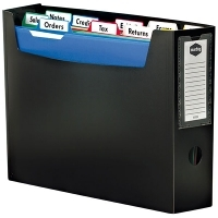 Marbig Portable File Organiser A4 with files & tabs 9002402