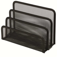 Esselte Vertical Sorter Organiser Black Mesh Metal 47549