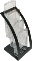 Deflecto Manhattan Curve DL 3 Tier Brochure Holder Black