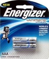 Energizer Ultimate Lithium Battery AAA Card of 2