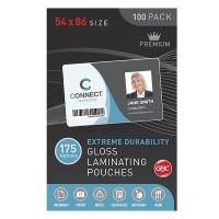 GBC Laminating Pouch 54x86mm 175mic Gloss BX100 BL175M54X86