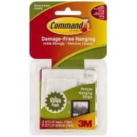 Command Adhesive 3M Picture Hanging Strips 17203