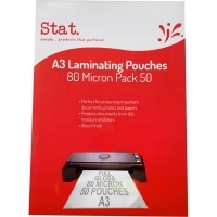 STAT Laminating Pouch A3 80mic BX50